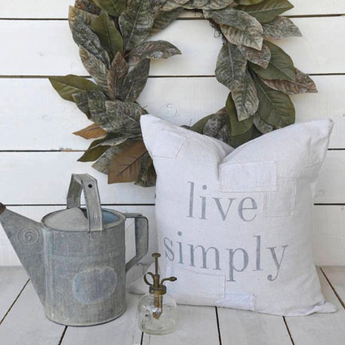 Live Simply Grain Sack Pillow Cover-The Scoop for Mommies