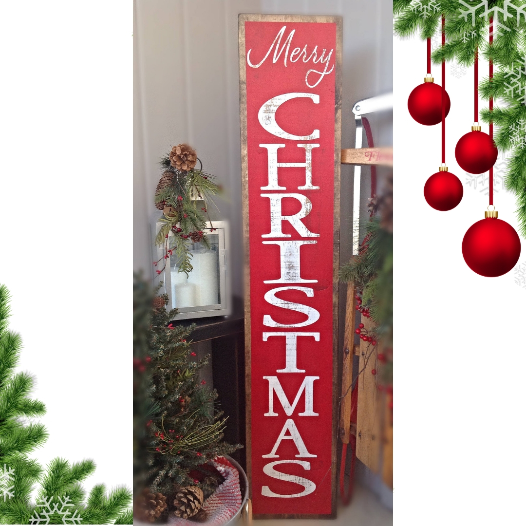 Merry Christmas Porch Sign-The Scoop for Mommies