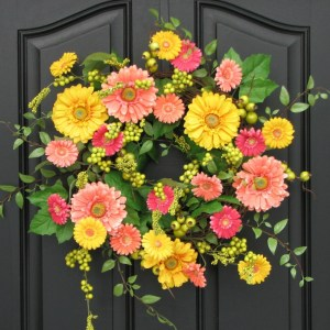 Gerber Daisy Wreath Yellow Daisy Wreath