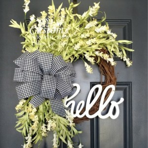 Spring Monogram Wreath