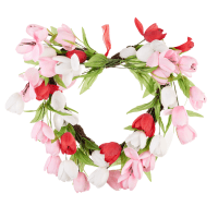 Valentine's Day Heart Shaped Tulip Wreath