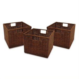 Kids Playroom Ideas and Decor-Wicker Baskets - Set of 3