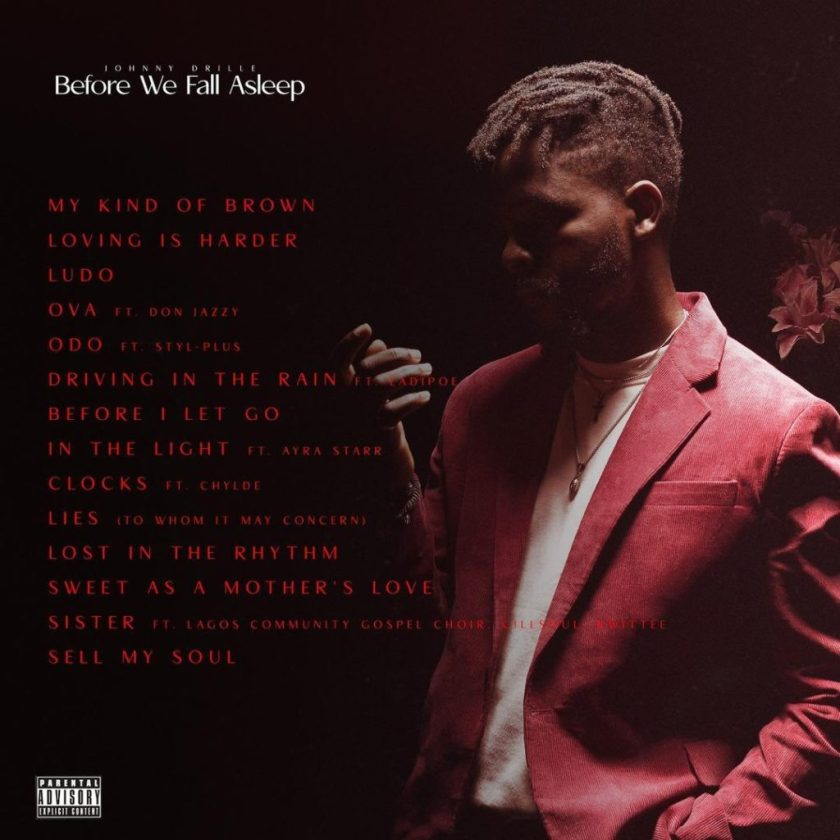 Johnny Drille before we fall asleep tracklist- www.thescoove.africa