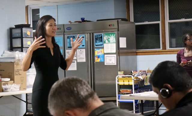 Wu wants to replace the BPDA with a new planning department, reexamine the city's zoning codes and create new rules for future development.Photo by Eileen O'Grady.