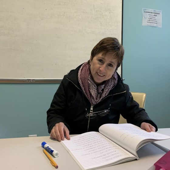 Marina Rodríguez, East Boston's Nueva Vida Christian Church English program director, helping immigrants in Boston learn English and live with dignity. Photo by Maria Aguirre Torres.