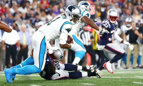 Cam Newton Injures Foot in Preseason Debut