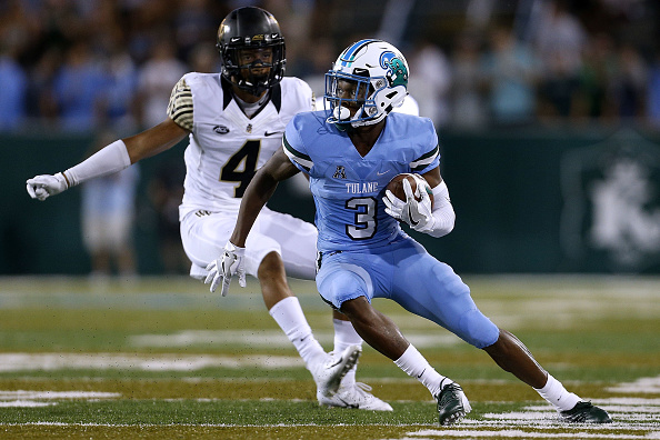 Darnell Mooney Tulane Green Wave Wide Receiver