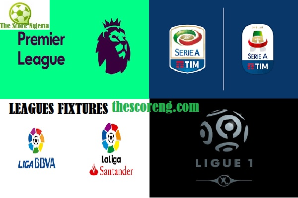EPL, Serie A, LaLiga, and Ligue 1 Fixtures for Nov. 23-25 in 2019/2020 Season