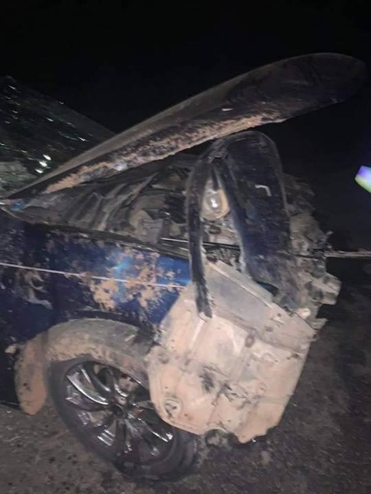 Super Eagles Midfielder Christian Obodo escape death in a Car Crash
