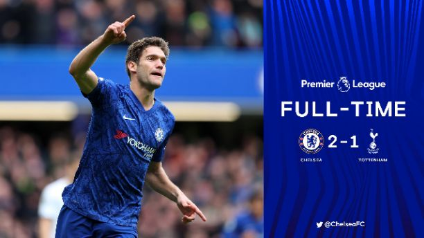 Chelsea defeat Tottenham Hotspur 2-1 at the Stamford Bridge
