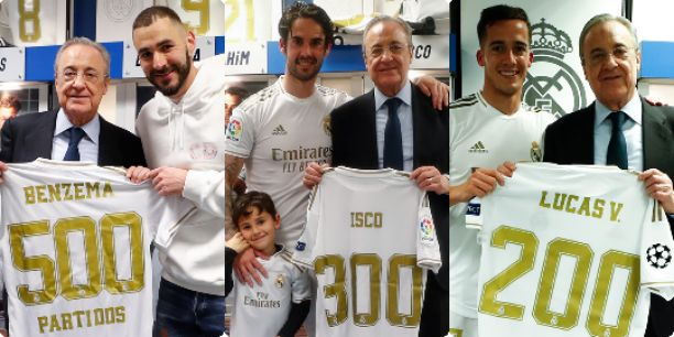 Benzema has played 500 matches, Isco played 300 matches & Lucas with 200 matches number for Real Madrid