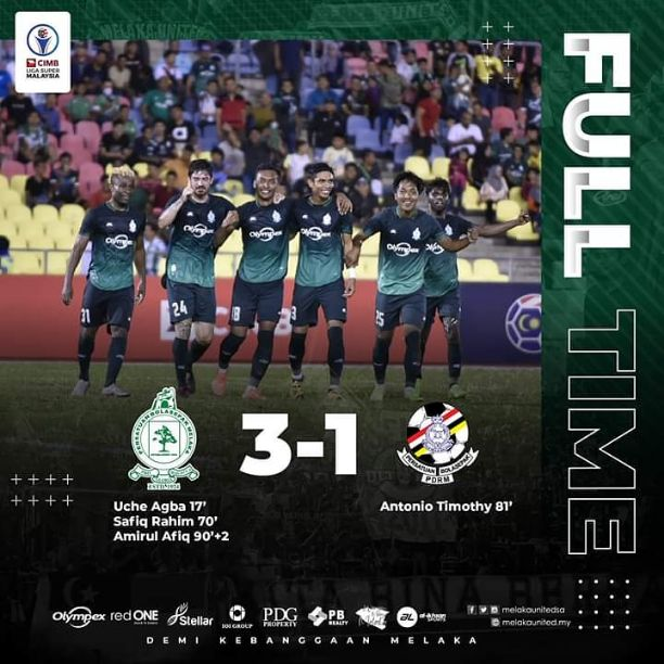Melaka United SA beats PDRM FA 3-1 in the Malaysia Super League Matchday 2 (Goals Highlights)