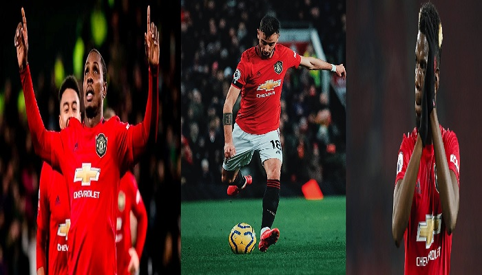 Odion Ighalo, Bruno Fernandes, Paul Pogba as United Future