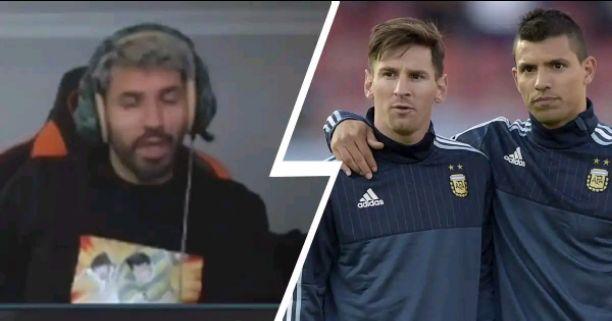 Sergio Aguero annoys Lionel Messi for him at 9