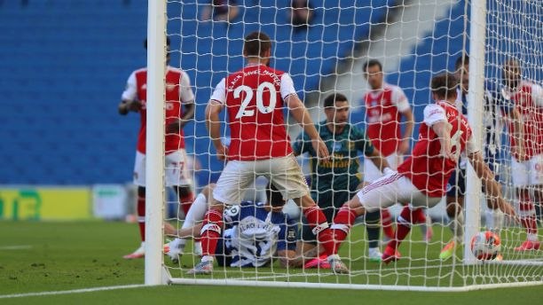 Brighton & Hove Albion 2-1 Arsenal: Pepe, Dunk, Maupay scores as Arsenal lose 2nd games after EPL return