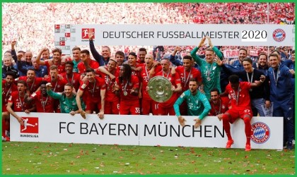 Bayern Munich crowned Bundesliga Champions for 2019/2020 season
