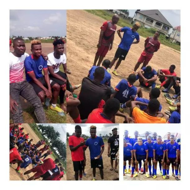 Samuel Chukwueze trains with Superstars academy in Uyo, Akwa Ibom state which stir up mixed reaction from Nigerians
