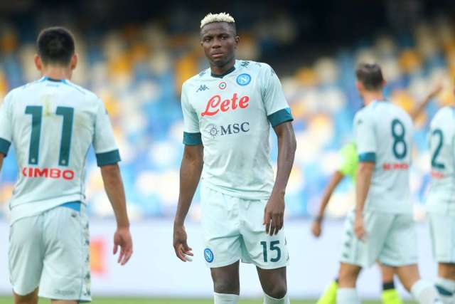 Victor Osimhen make debut for Napoli against Parma