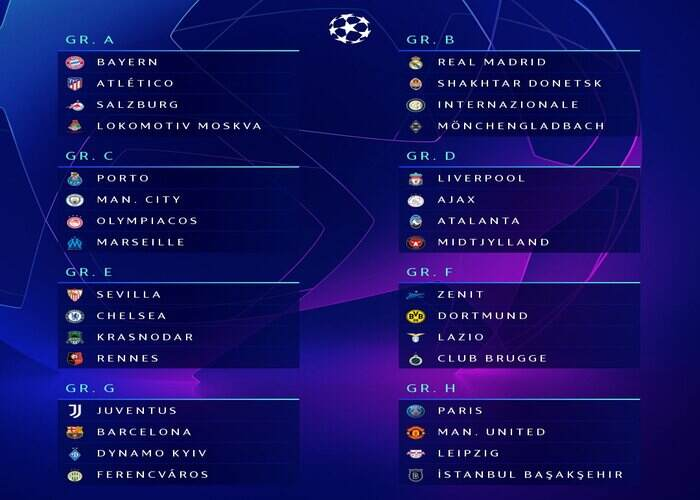 The Best Uefa Champions League Fixtures Tonight