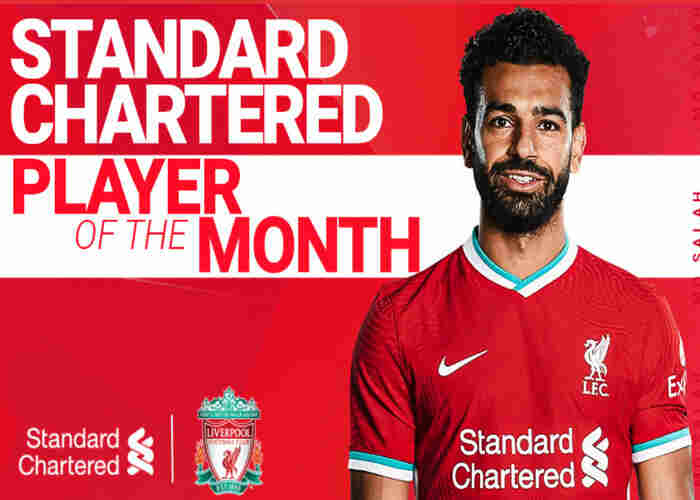 Mohamed Salah named Standard Chartered Player of the Month for December
