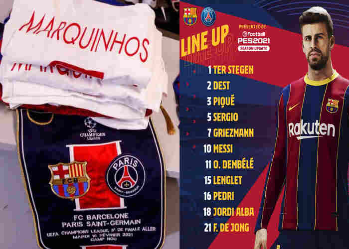 Barcelona vs PSG Lineup, Squad List for 2021 UEFA Champions League