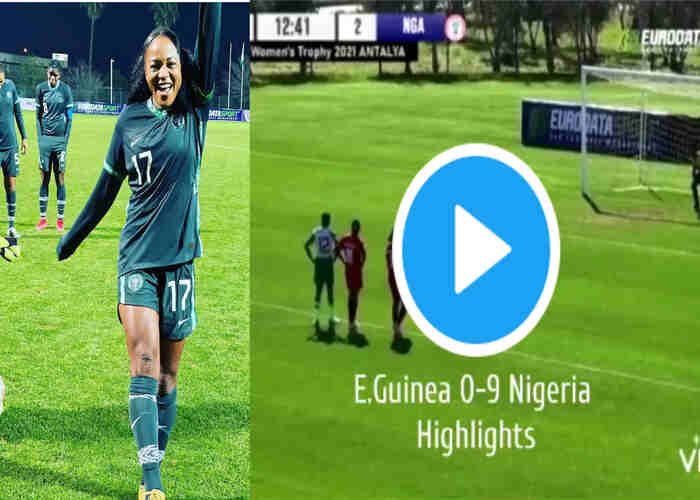 Nigeria Super Falcons Wallops Equatorial Guinea 9-0 (Full Highlights)