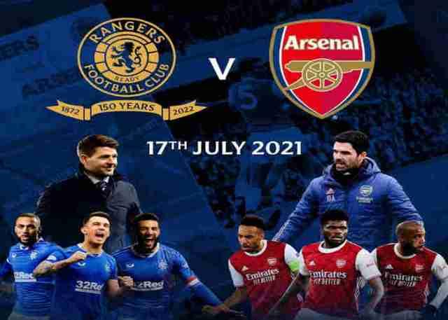Rangers vs Arsenal Pre-Season Friendly Match Confirm