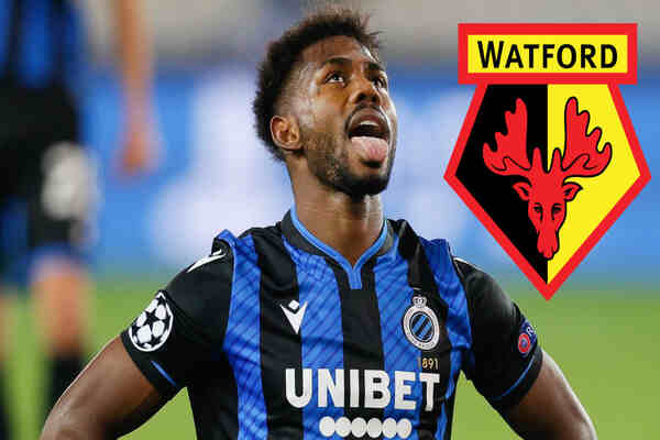 Watford announces signing of Emmanuel Dennis from Club Brugge