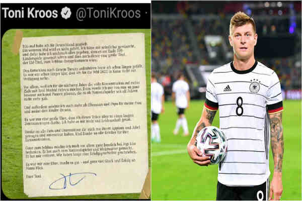 Toni Kroos announces retirement from football, FIFA reacts