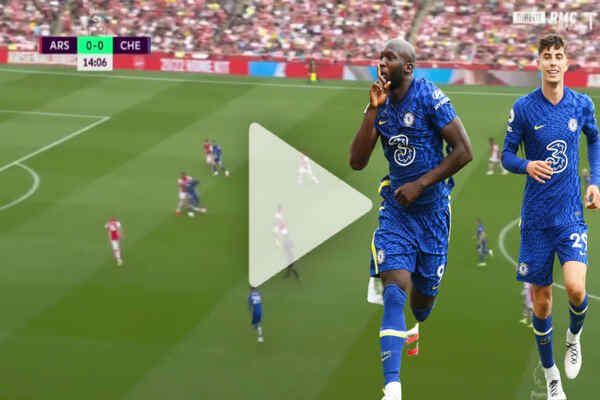 Lukaku scores first goal on his debut for Chelsea against Arsenal