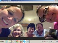 From St. Louis skyping with Karen in Canada!