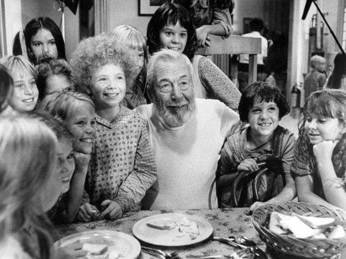 John Huston on Annie's set