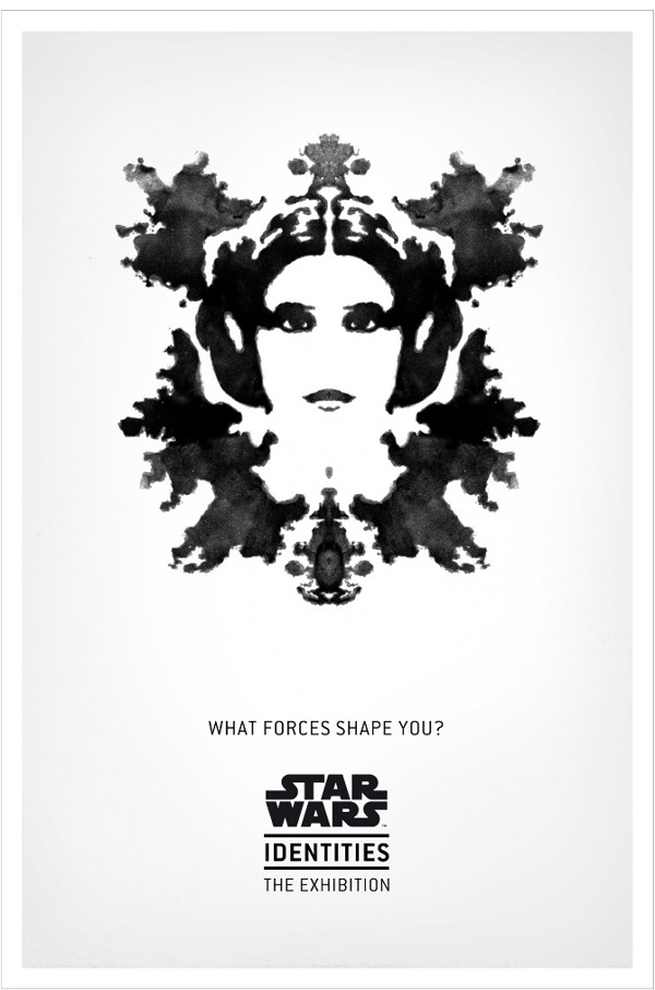 Star Wars Identities The Exhibition - Rorschach Leia Poster
