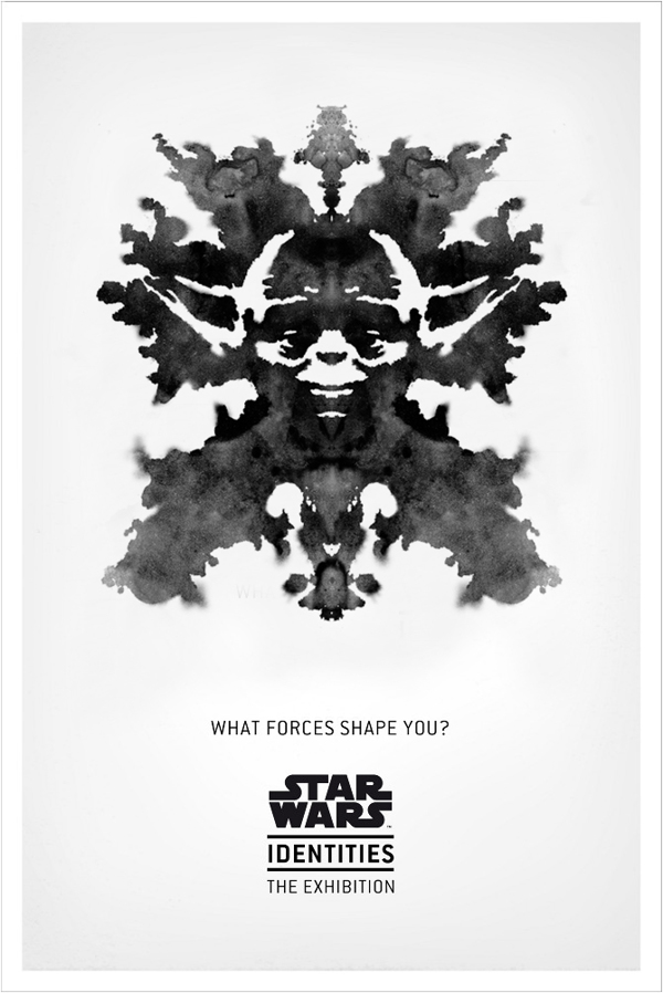 Star Wars Identities The Exhibition - Rorschach Yoda Poster