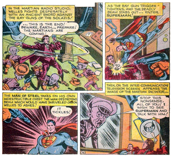 Superman number 62 with Orson Welles - Orson Welles and Superman teaming up to save the world!