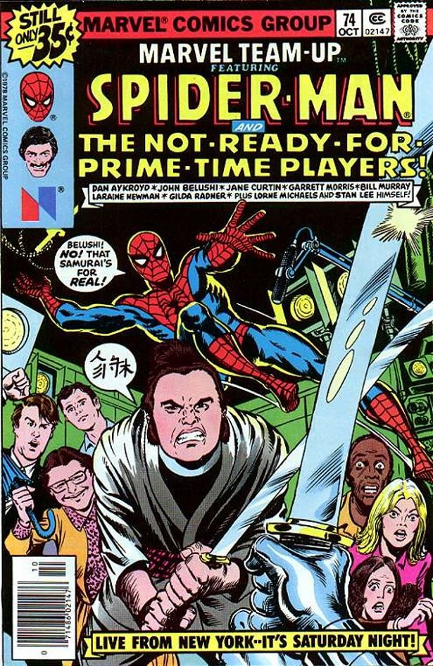 Spiderman teaming up with Belushi and Ackroyd- Orson Welles and Superman teaming up to save the world!