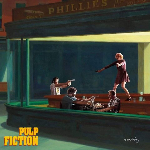 Pulp Fiction Minimalistic Poster by Norrobey - The Script Blog