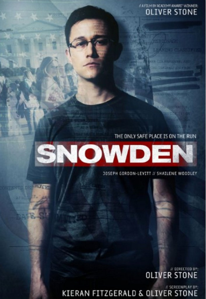Snowden (2016), written (with Kieran Fitzgerald, based on a book by Luke Harding and Anatoly Kucherena).