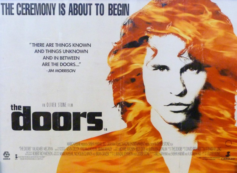 The Doors (1991), written (with Randall Jahnson) and directed by Oliver Stone.