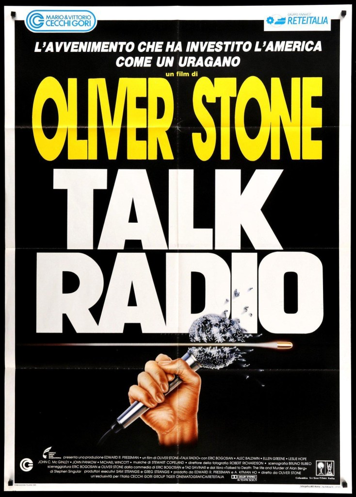 Talk Radio (1988), Italian poster, directed by Oliver Stone.