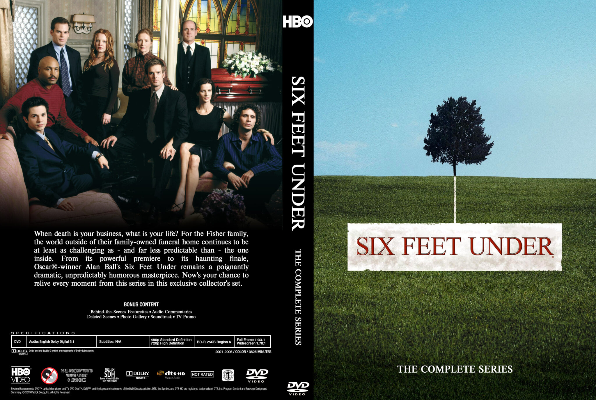 Six Feet Under (2001-2005, 63 episodes over 5 seasons, HBO)- Thescriptblog.com