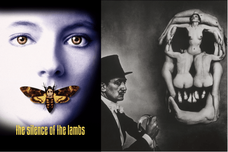 The Silence of the Lambs poster and Dali's photo - thescriptblog.com