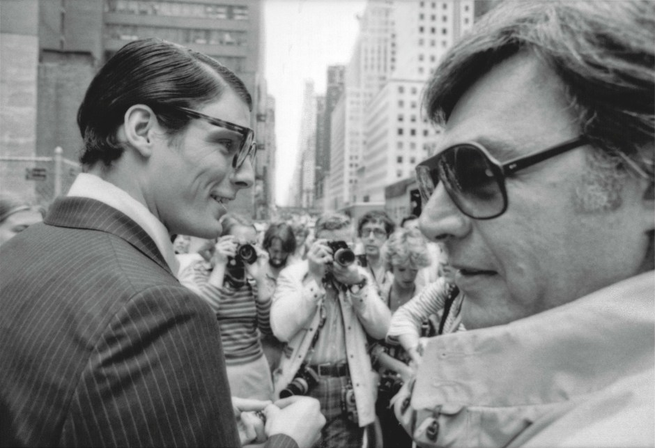 Richard Donner and Christopher Reeve on the set of Superman (1978) - thescriptblog.com