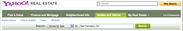 Yahoo Real Estate Page