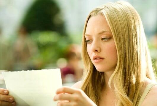 Amanda Seyfried in Letter's to Juliet