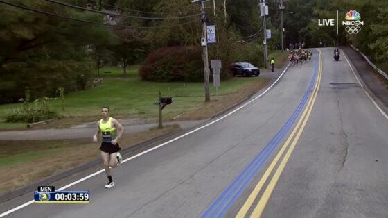 Former 50K World Record Holder CJ Albertson Led the 2021 Boston Marathon for 20 Miles