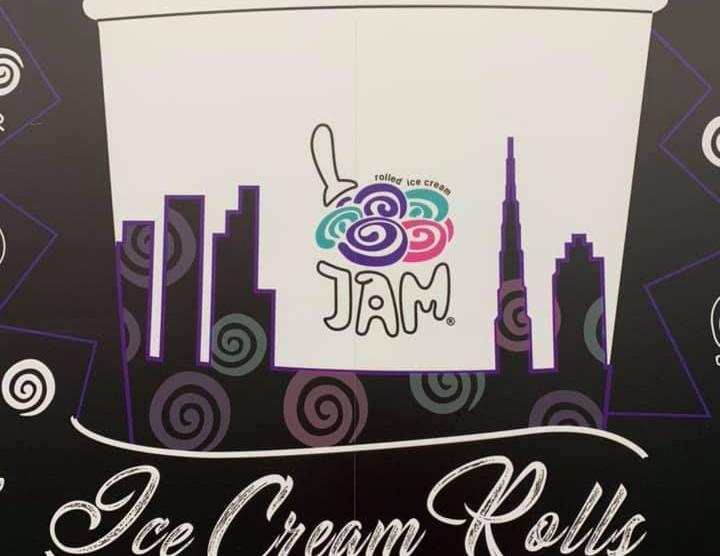 Jam Rolled Ice Cream