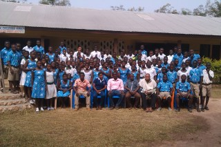 The JHS school. Sylvester is the teacher sitting in the centre