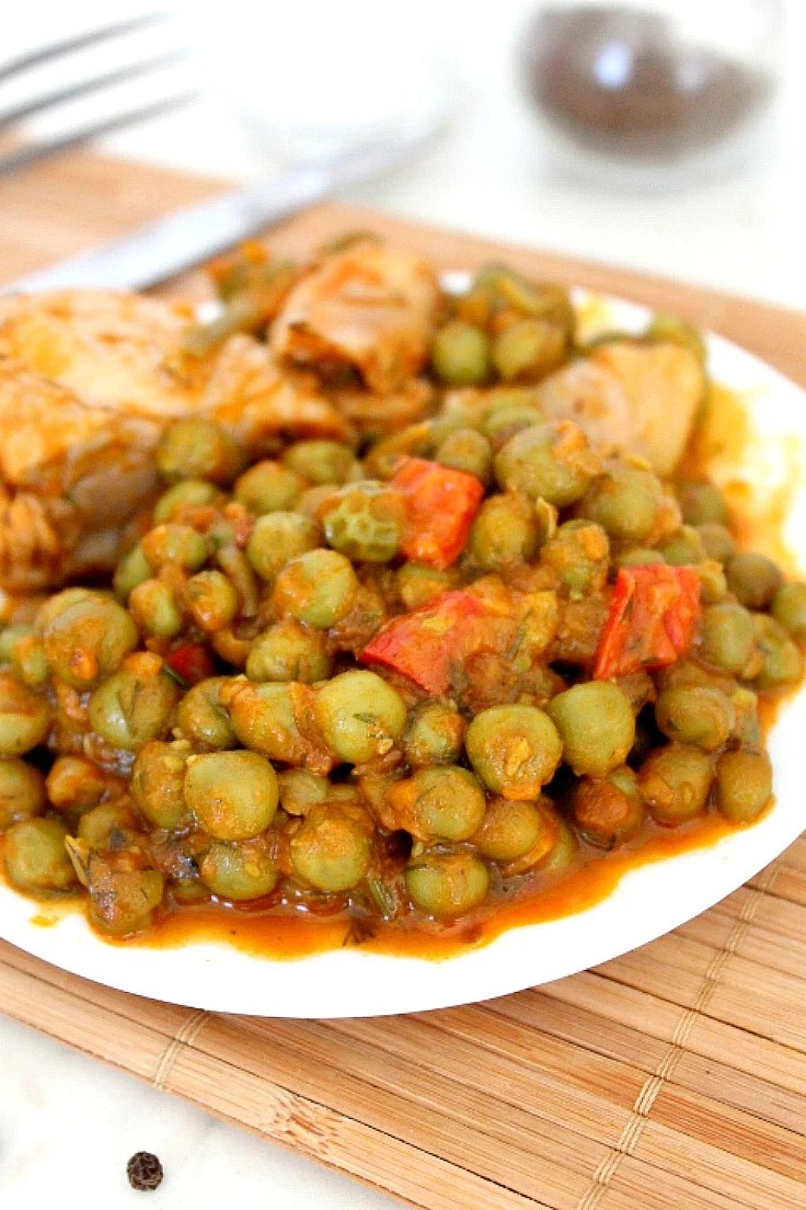 Chicken and peas recipe