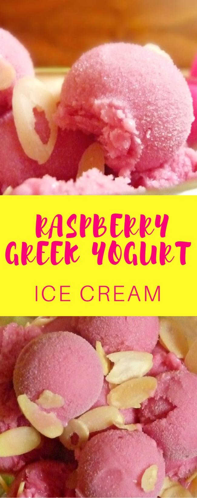 Raspberry Greek Yogurt Ice Cream Recipe